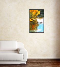 Wall Skin Canvas 18 X 24 Inch The River In The Wilderness Framed Digital Art Print