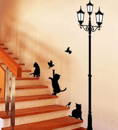 Wall Stickers Ancient Lamp And Cats