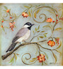 Wall Decor Canvas 24 x 24 Inch Cute Sparrow Framed Digital Art Print