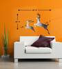 Wall Inc Prancing Antelope Wall Decal With Black & White Texture Effects