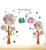 WallTola PVC Vinyl Baby Cute Elephants & Tree Wall Sticker