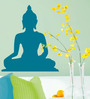 WallTola PVC Vinyl Blue Peaceful Buddha Wall Sticker