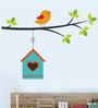 WallTola PVC Vinyl Hanging Bird House Wall Sticker