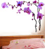 WallTola PVC Vinyl Isolated Orchids Wall Sticker