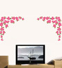 WallTola PVC Vinyl Love Flowers for Background Wall Sticker