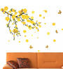 WallTola PVC Vinyl Mind Blowing Yellow Flowers Wall Sticker