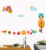 WallTola PVC Vinyl Sunny Day Owl Wall Sticker & Decal