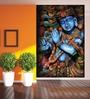 Wallskin Blue Non Woven Paper Blissful Krishna Wallpaper