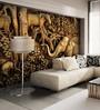 Wallskin Brown Non Woven Paper Wooden Jungle Wallpaper