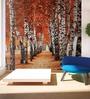 Wallskin Orange Non Woven Paper Autumn Woods Wallpaper