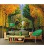 Wallskin Orange Non Woven Paper Trees in Park Wallpaper