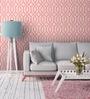 Wallskin Pink Non Woven Paper The Tone Symmetry Wallpaper