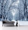 Wallskin White Non Woven Paper Winter Forest Wallpaper