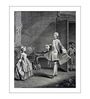 Wallsnart Photographic Paper & Glass French Dance Teacher 18th Century Framed Art Print