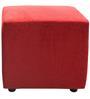 Walton Pouffe Plain Red Colour by Furnitech