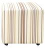 Walton Pouffe Brown Striped Colour by Furnitech