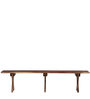 Warden Bench in Provincial Teak Finish by Woodsworth