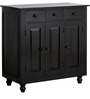 Warren Hutch Cabinet in Espresso Walnut Finish by Amberville