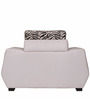 Wave One Seater Sofa in White & Grey Colour by Home City