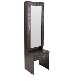 Wego Dressing Table in Walnut Colour by Crystal Furnitech
