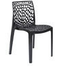 Web Chair (Set of 6) in Black Colour by Supreme
