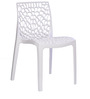 Web Chair Set of Four in Milky White Colour by Supreme