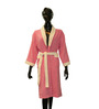 Welhome Pink & Ivory Cotton 22.5 x 36 Inch Bath Robe