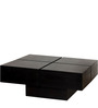 Wellesley Low Height Solid Coffee Table in Espresso Walnut Finish by Woodsworth