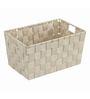Wenko Adria Plastic Beige 4 L Long Bath Basket