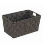 Wenko Adria Plastic Black 2 L Long Bath Basket