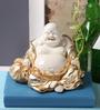 Micasa Gold Polyresin Laughing Buddha Showpiece
