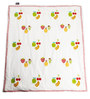 Cocobee White Mix Fruity Print Baby Quilt in White Colour