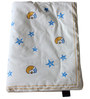 Cocobee White Moon and Stars Print Baby Quilt in White Colour
