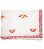Cocobee White Pink Peacocks,Bird Print Baby Quilt in White Colour