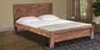 William King Size Bed in Walnut Brown Colour by Durian