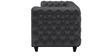 William Three Seater Sofa in Peras Bag Black Colour by ARRA