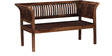Willingdon Two Seater Sofa in Provincial Teak Finish by Amberville