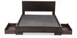 Wilson King Bed with Storage in Brown Colour by Durian