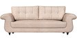Windsor Three Seater Leatherette Sofa in Off White Colour by Home City