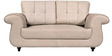 Windsor Two Seater Leatherette Sofa in Off White Colour by Home City