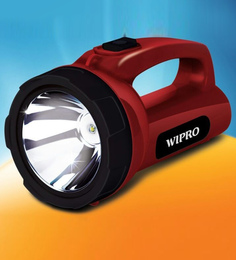Wipro 5-Watt Emerald Led Rechargeable Torch - Set of 2
