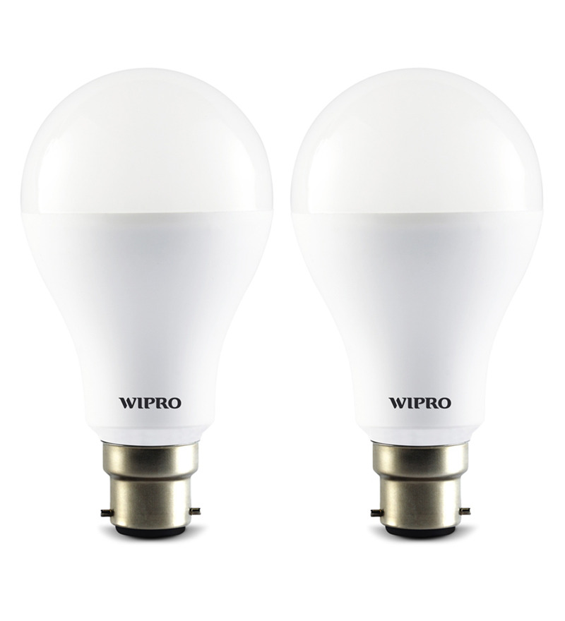 Wipro 6500K 14W LED Bulb - Set of 2  available at Pepperfry for Rs.679