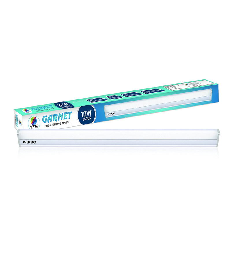 WiproWhite 10W Garnet LED Batten Tubelight Cool White  available at Pepperfry for Rs.449