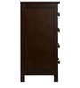 William Four Drawer Chest in Coffee Brown Colour by Asian Arts