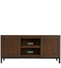 William Two Door Media Console in Natural Brown Colour by Asian Arts