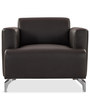 Windsor One Seater Sofa in Dark Brown Colour by Durian