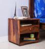 Winona Bed Side Table in Honey Oak Finish by Woodsworth