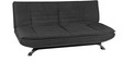 Wonder 3 Seater Sofa Bed in Black Colour by Furny
