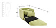 Wooden foam fold out bed Single in light Green Colour by Furny