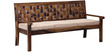 Woodway Three Seater Sofa in Provincial Teak Finish by Woodsworth